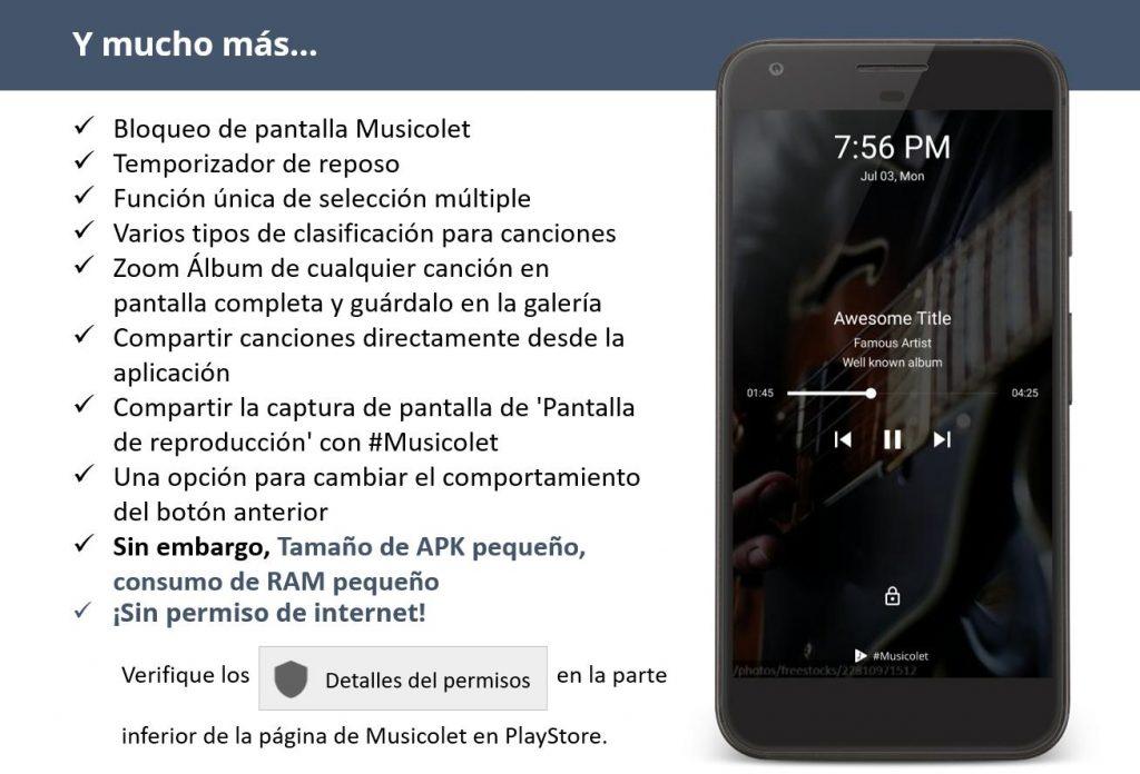 reproductor de música android